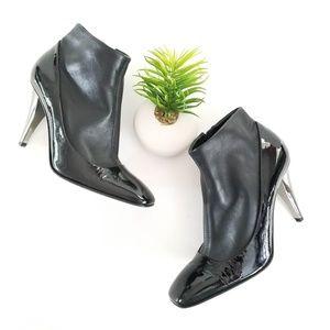 Giuseppe Zanotti Black Leather Patent Sock Boots